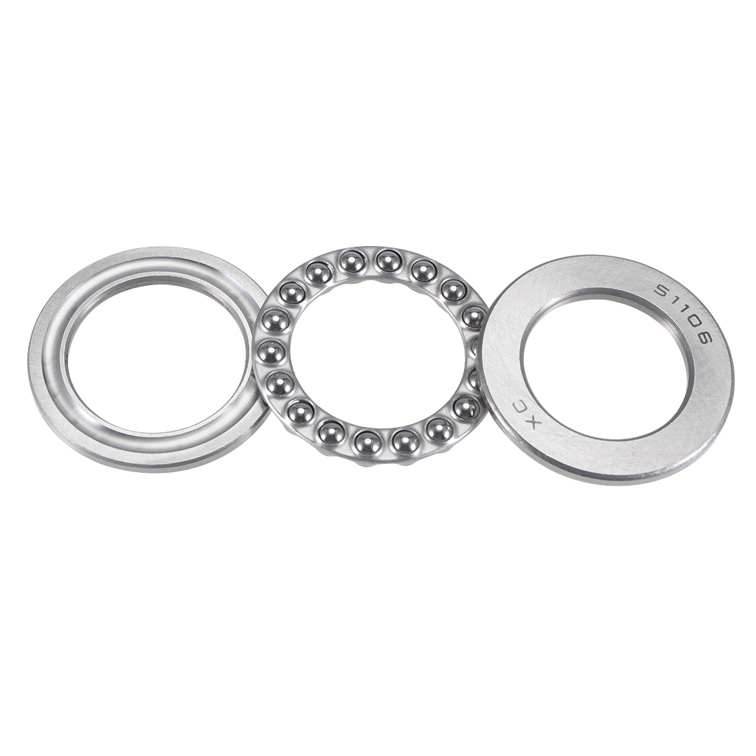 51106 Carbon Steel Thrust Ball Bearing 3 Part 30mmx47mmx11mm