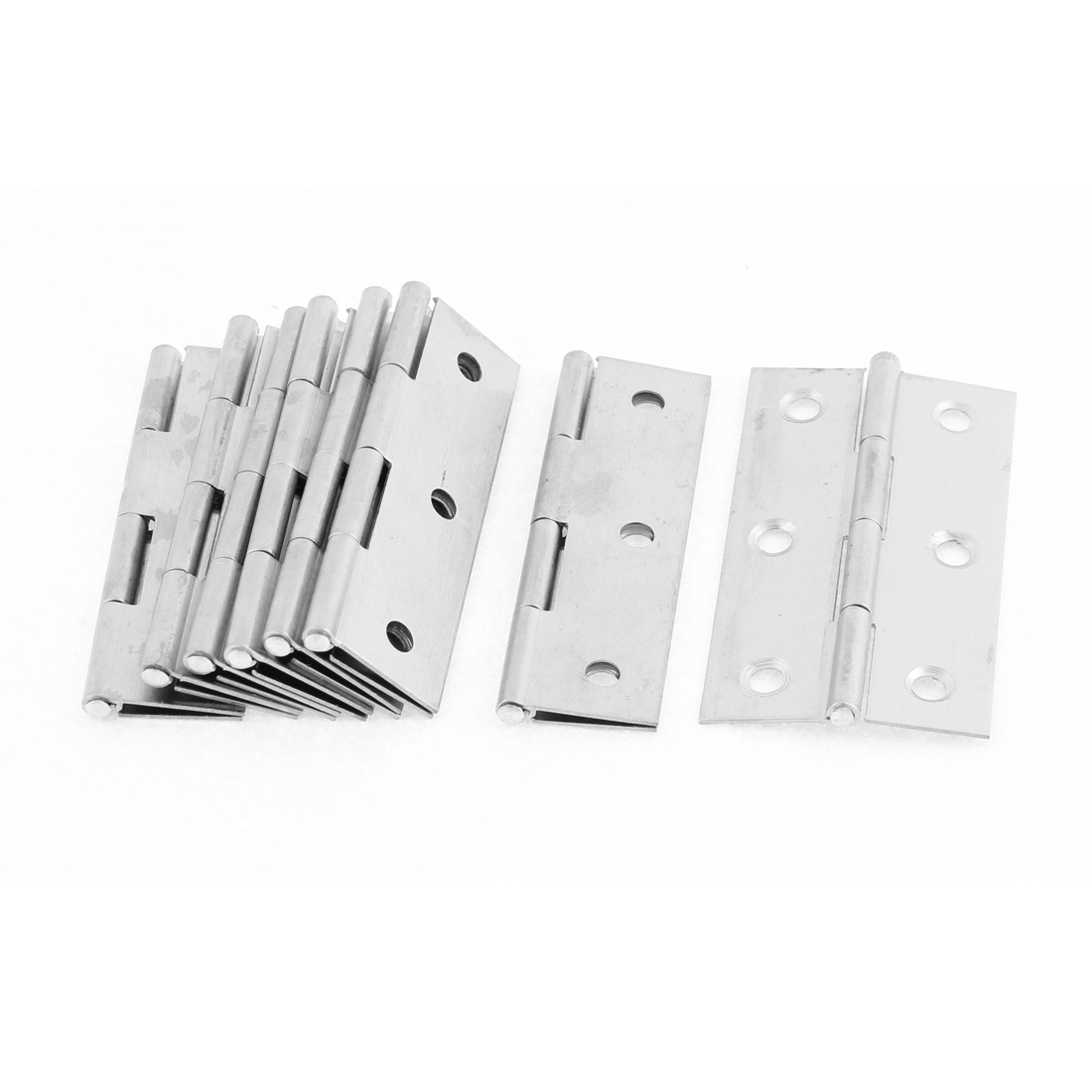 "8 Pcs Stainless Steel 4.7mm Mounting Hole 2.5"" Long Cabinet Door Hinge"