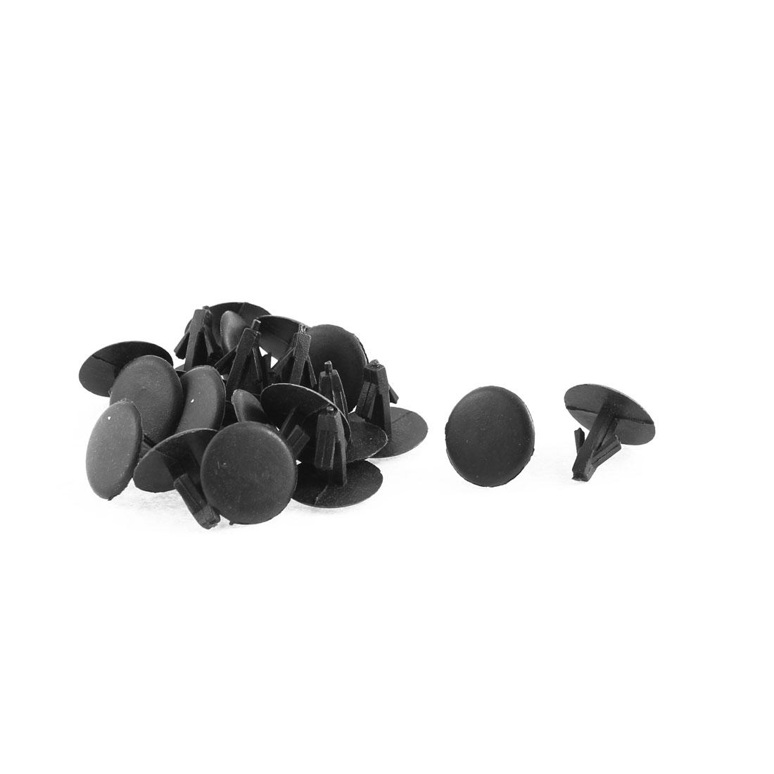 15 Pcs Black Plastic Door Trim Buckle Mat Fastener Rivet for Toyota
