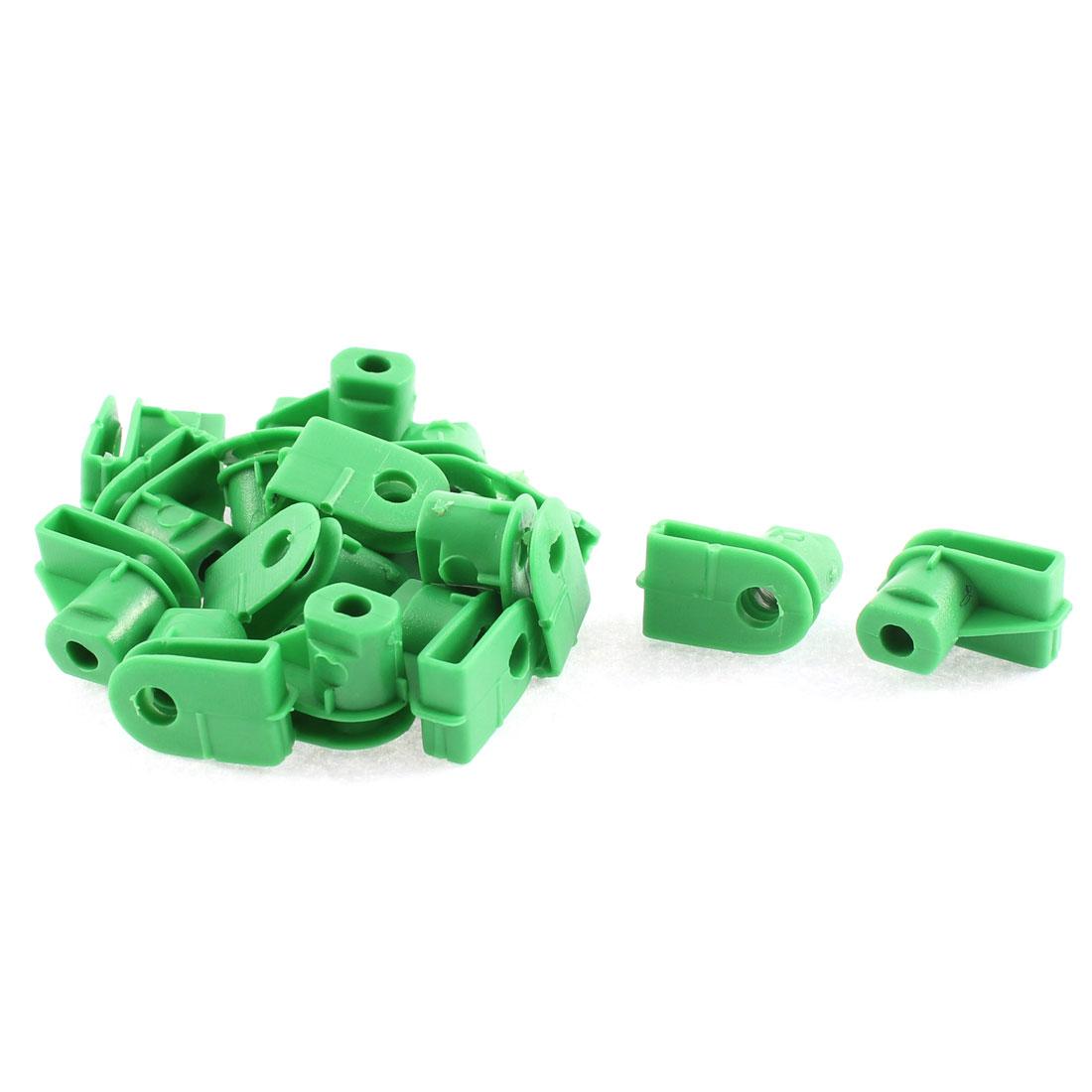 15 Pcs Green Plastic Door Interior Bumper Fastener Clip for Audi