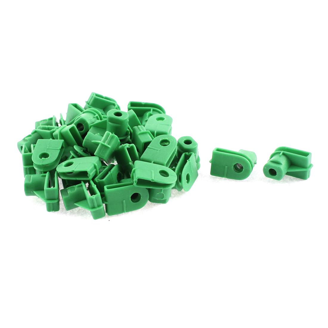 30 Pcs Green Plastic Door Interior Bumper Fastener Clip for Audi