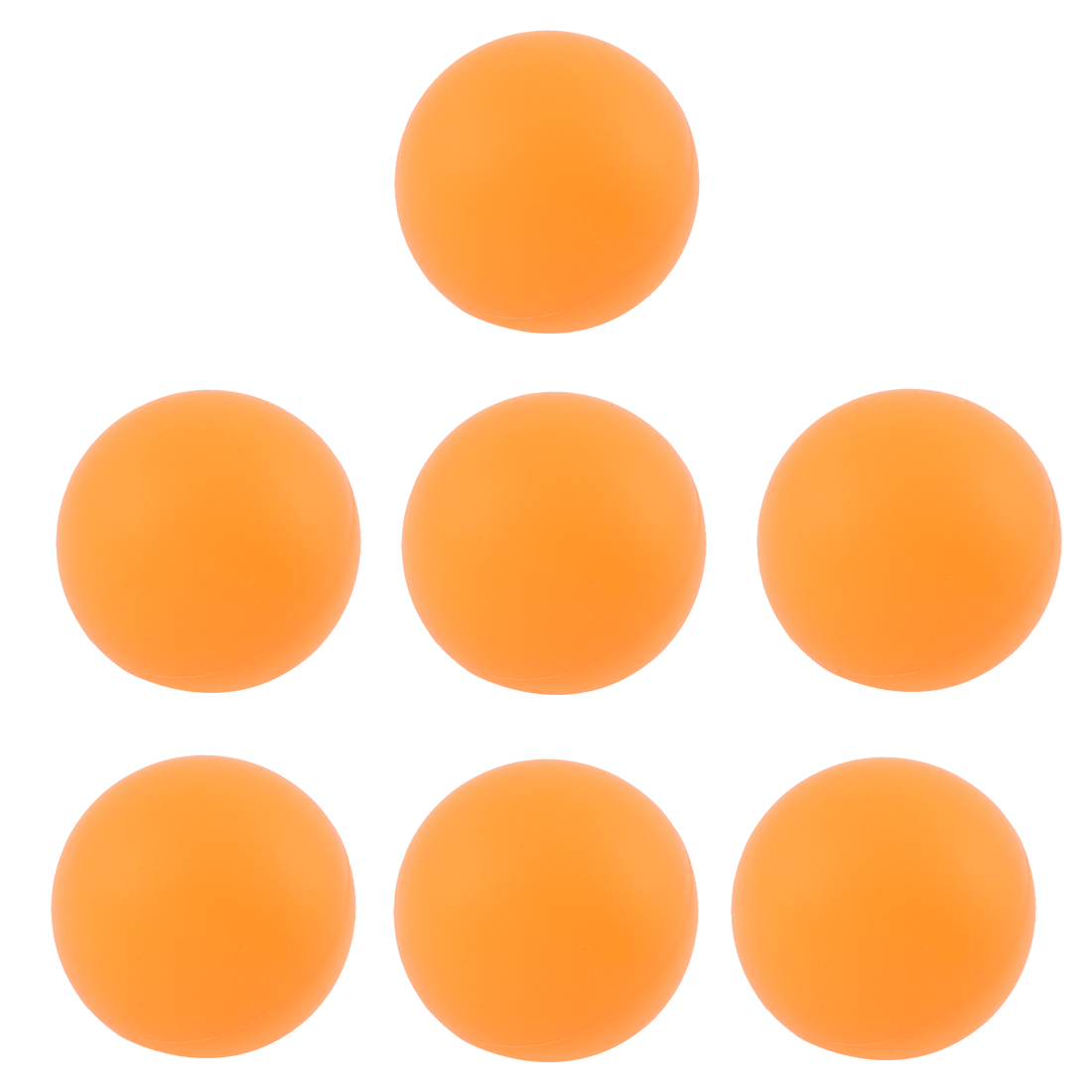 Sports Games Orange Plastic Table Tennis Ping Pong Balls 40mm Dia 7 Pcs