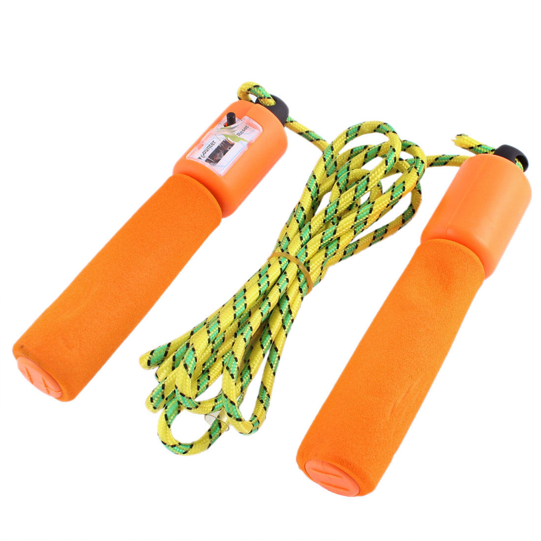 Nonslip Handle Skipping Jump Counter Plastic Rope Tri Color for Exercise