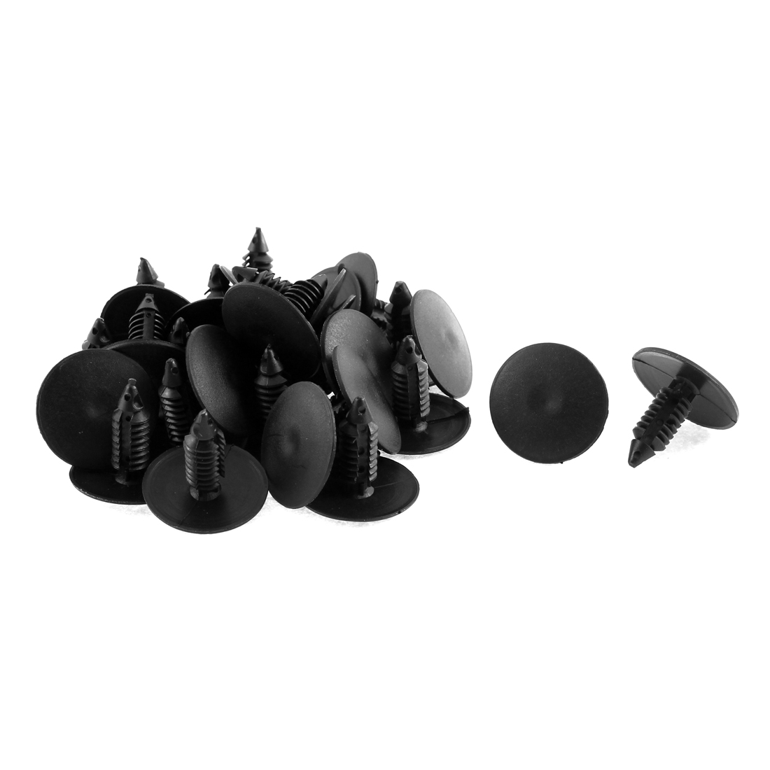 30 Pcs Black Plastic Door Buckle Clasp Rivet Trim Mat Clip for Buick
