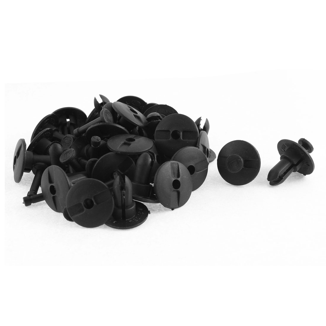 30 Pcs Black Plastic Push-Type Trim Buckle Moulding Rivet for Buick