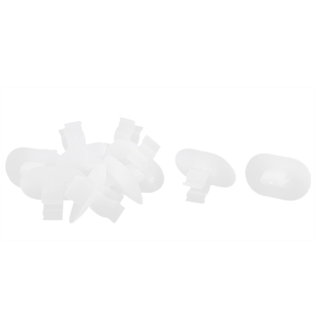 10 Pcs White Plastic Hood Support Rod Clamp Fastener Clip for Buick
