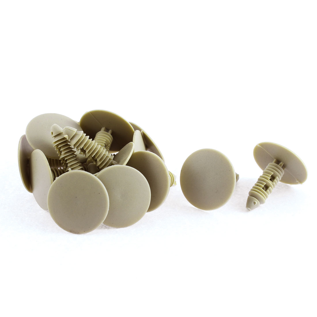15 Pcs Khaki Plastic Door Seal Nail Rivet Trim Mat Clip for Buick