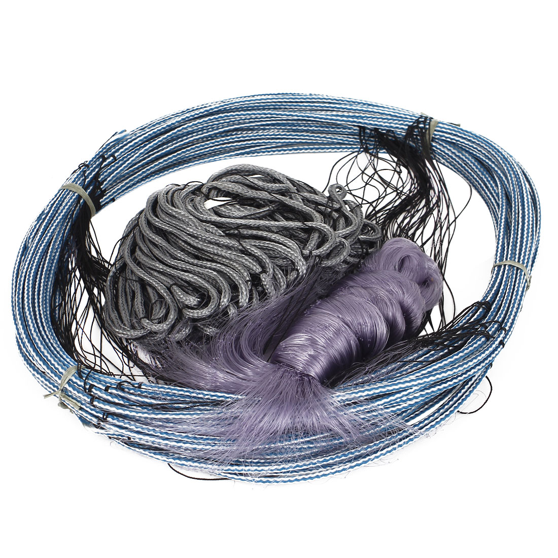 30Mx1.8M 5x5cm Mesh Hole Fishing Gill Monofilament Net Blue Gray Purple