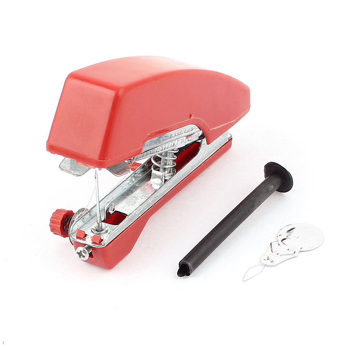 Red Plastic Coated Portable Instant Housing Mini Handheld Sewing Machine