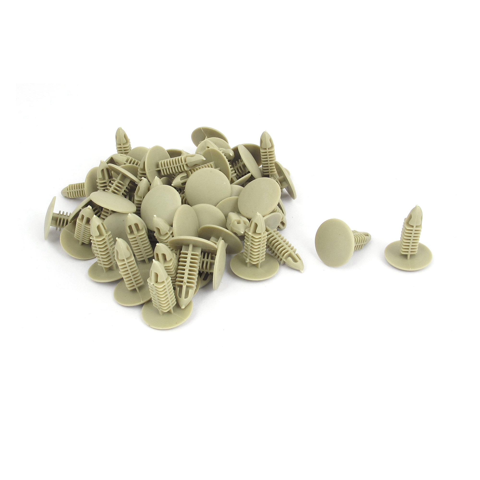 Car Door Fender Plastic Rivets Fastener Retainer Clips Beige 50Pcs