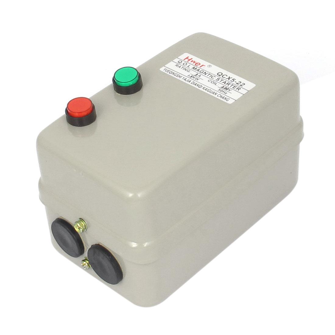 220V Coil Motor Control Push Button Electromagnetic Magnetic Starter