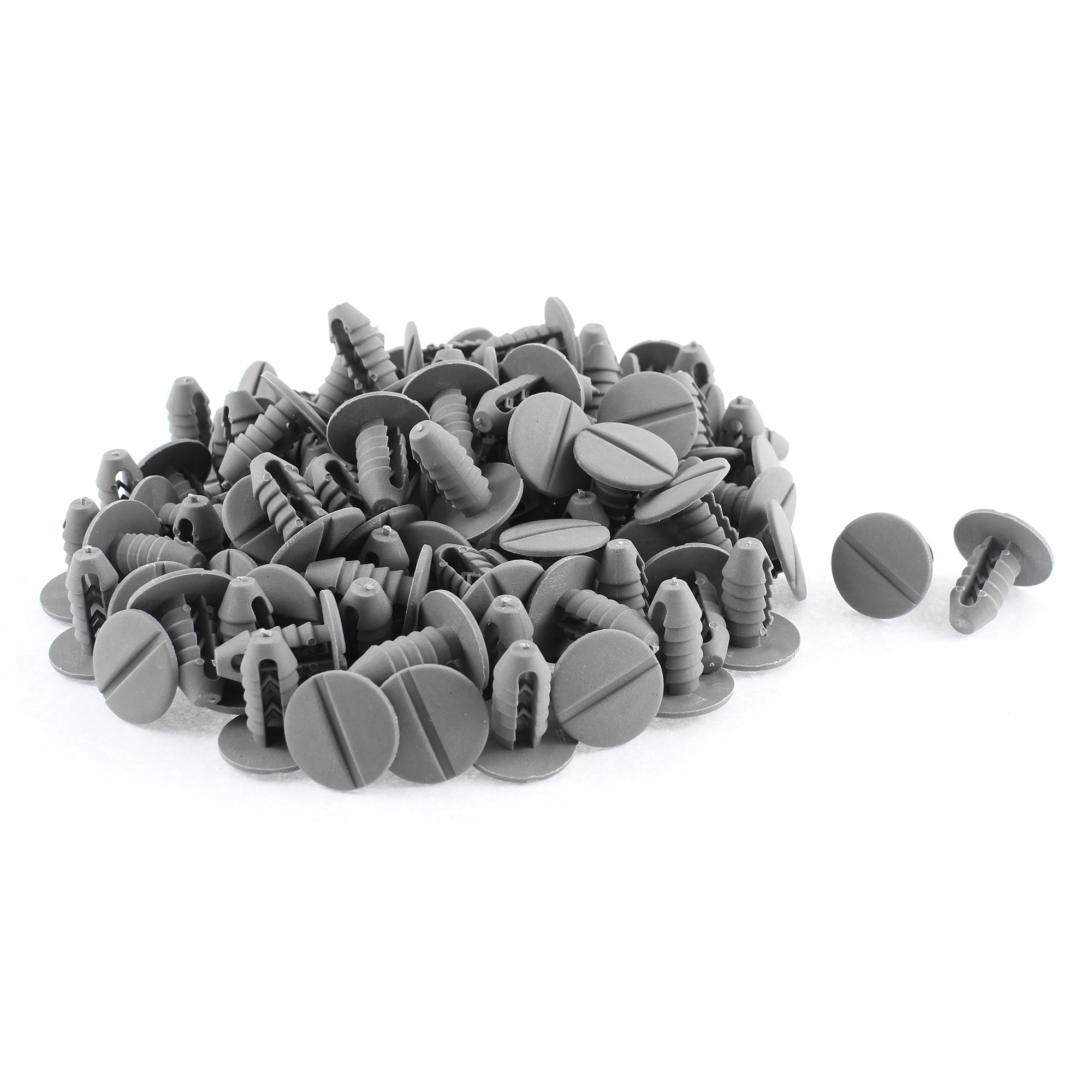 100 Pcs Gray Plastic Door Weatherstrip Moulding Rivet for Iveco
