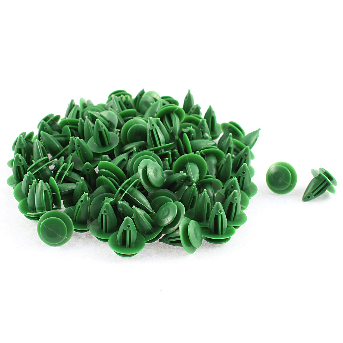 100 Pcs Green Plastic Door Trim Interior Weatherstrip Mat Retainer Clip