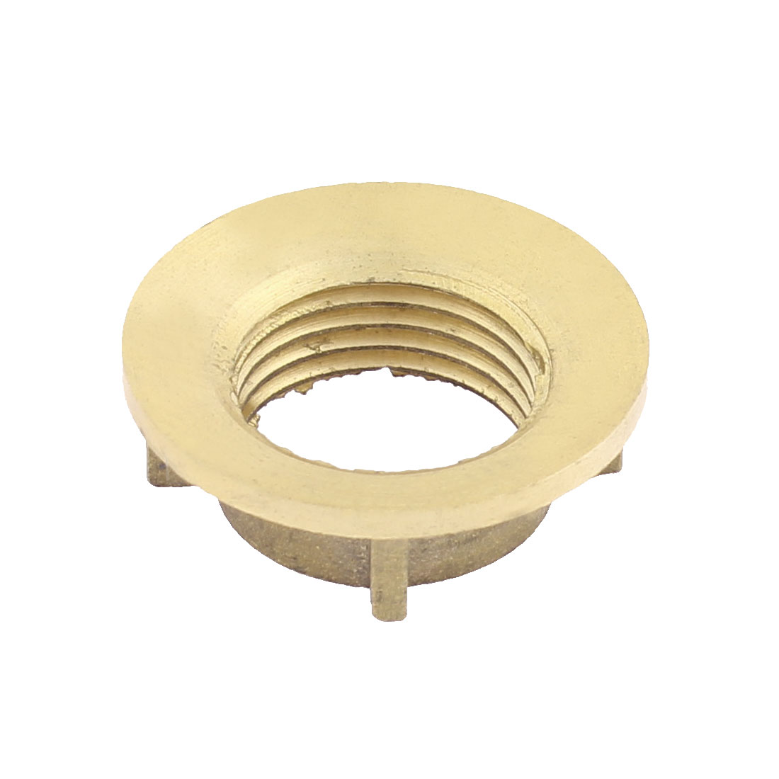 Household Brass Water Tap Fitting Nut Gold Tone 19mm Threaded