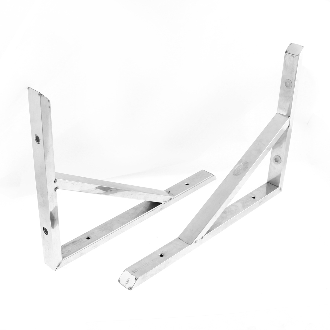 Stainless Steel 90 Degree Angle Holder Shelf Bracket Support 14 Inches Long 2 Pcs