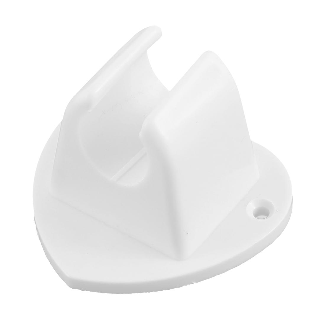 Bathroom Shower Head Wall Mounted Heart Shape Bracket Holder White