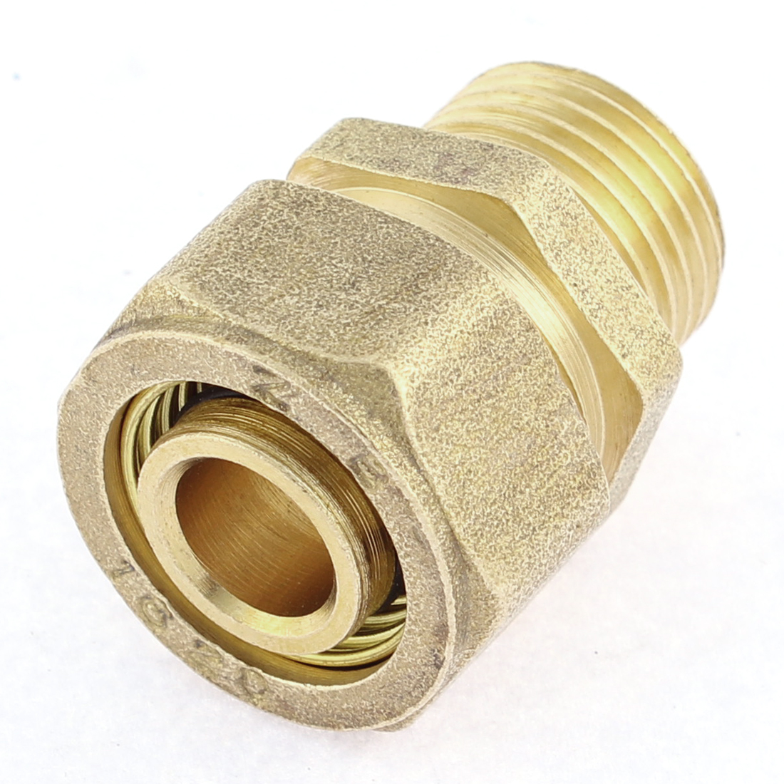 20 x 16mm Male Brass Hex Nipple Connector Gold Tone