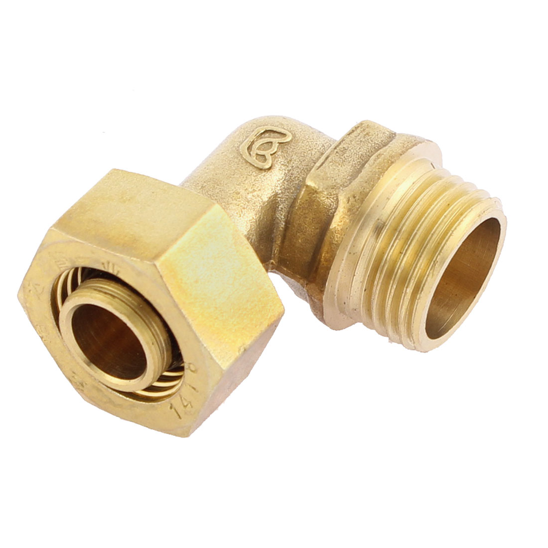 1/2BSP Male Thread Brass Elbow Hex Nipple Quick Coupler Connector