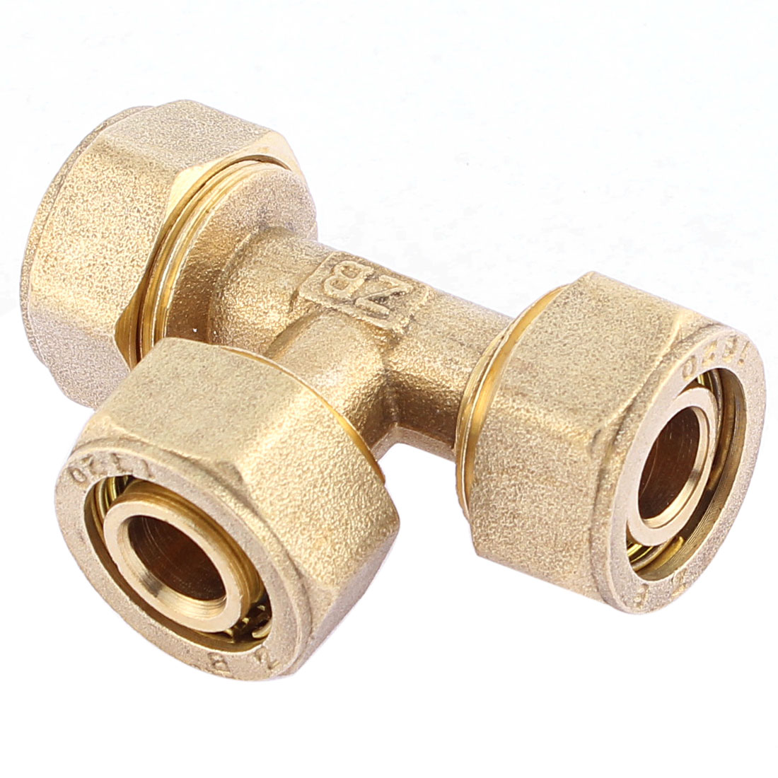 16mm x 20mm Brass Equal Tee Union Coupling Adapter Connector