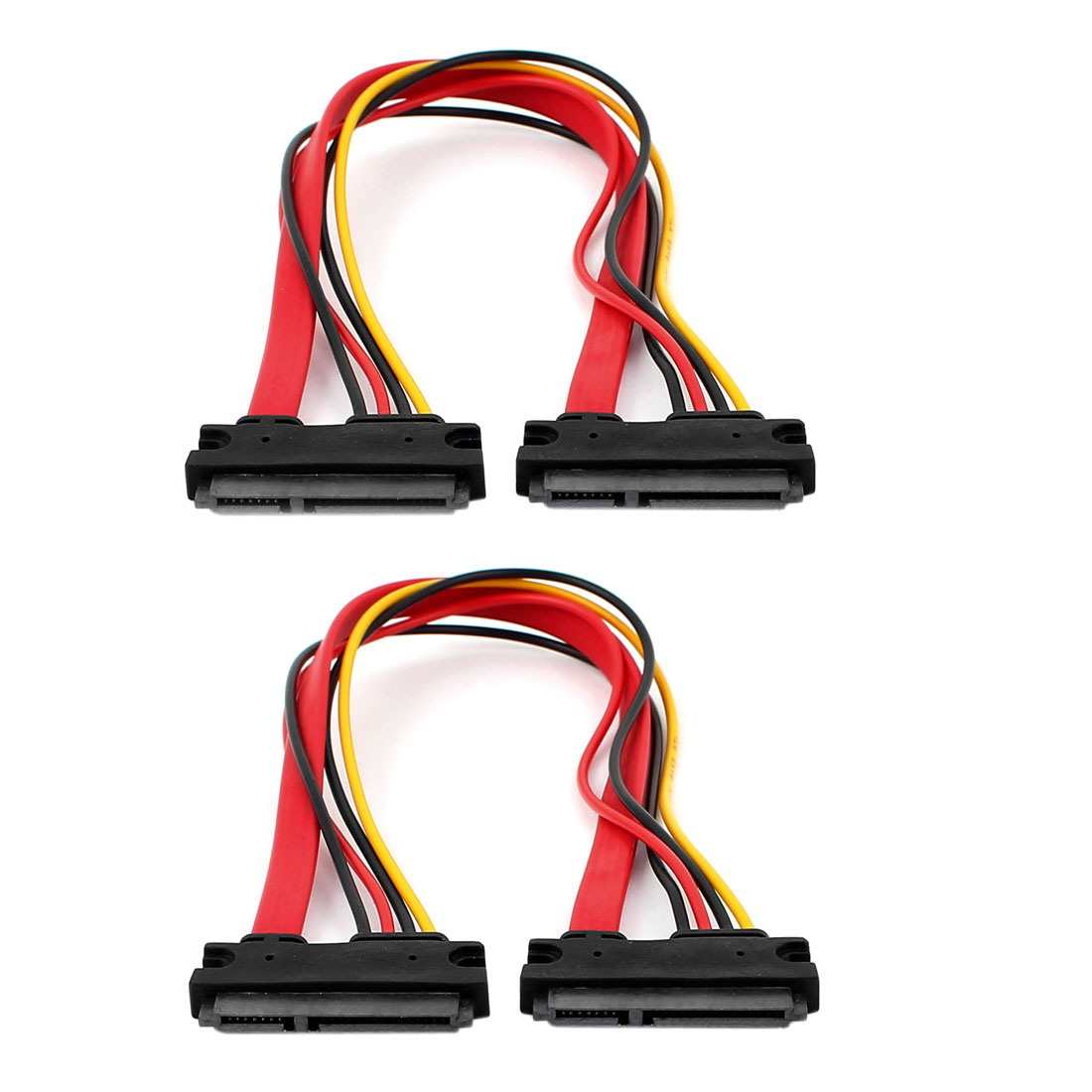 SATA 7+15 Pin Serial Female to Female Connector Data Power Cable 30cm 2Pcs