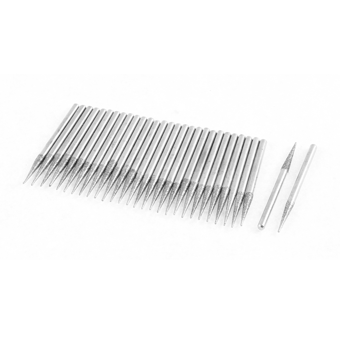 Diamond Grinding Mounted Point 3mm x 17mm Taper Needle Head 30Pcs