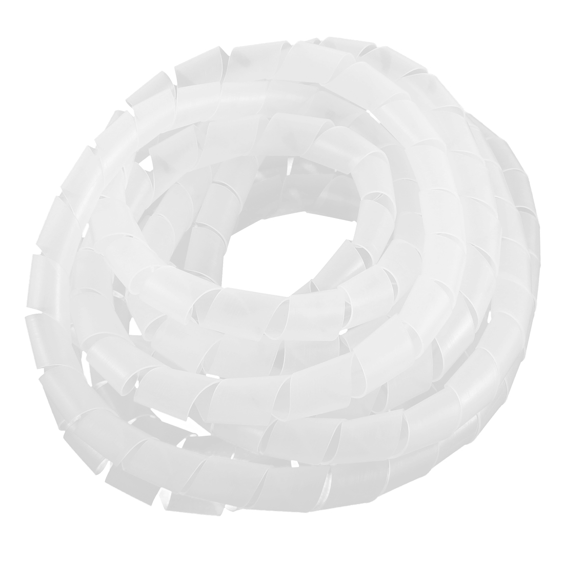 PC Cinema TV Cable Wire Wrap Spiral Wrapping Band Clear White 14mm 5M