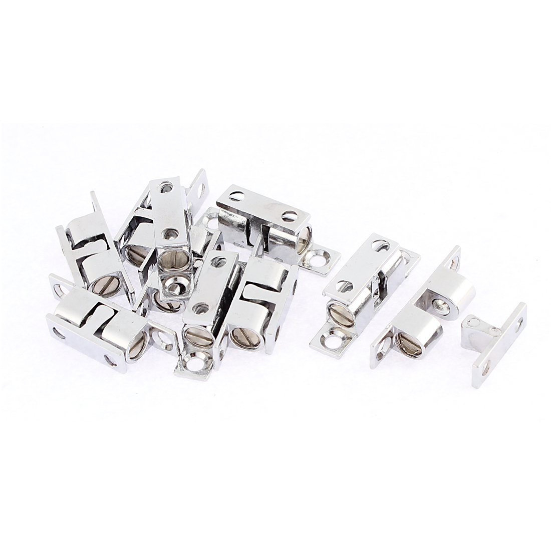 Hardware Cabinet Door Cupboard Magnetic Catches Silver Tone 40 x 10 x 13mm 10Pcs