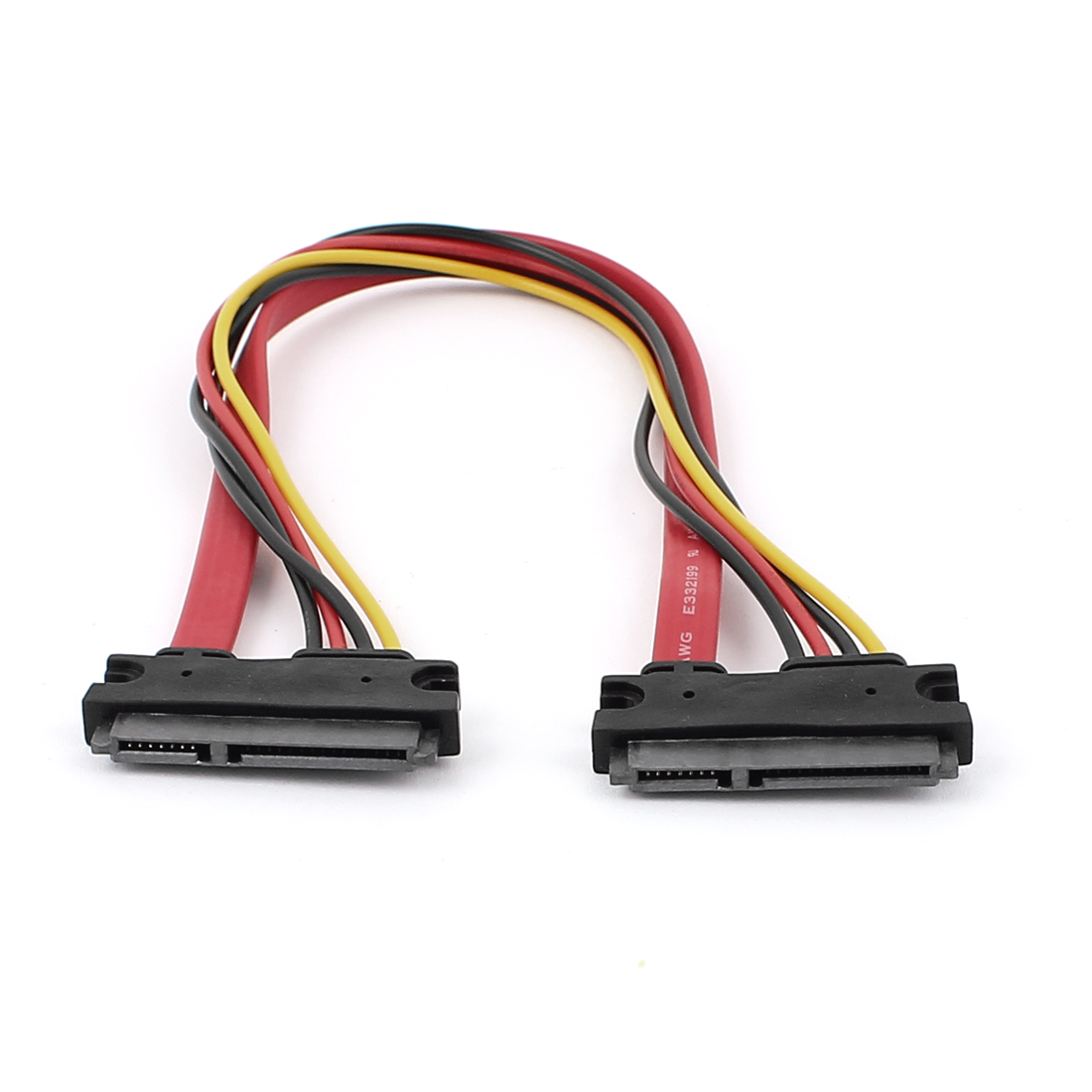 SATA 7+15 Pin Serial Female to Female Connector Data Power Cable 30cm