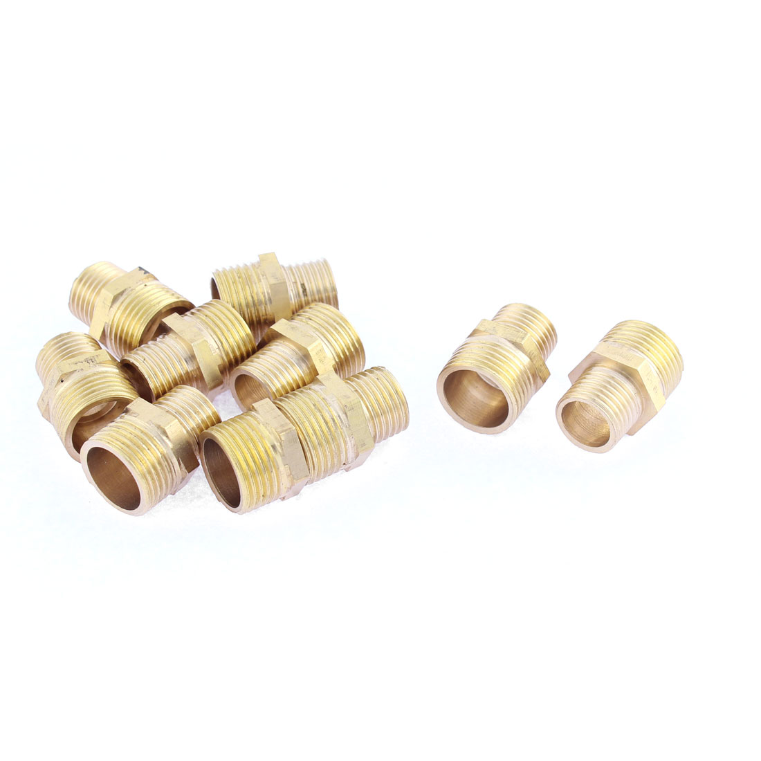 Piping Fitting Connector Hex Reducing Nipple 3/8BSP to 1/4 BSP 22mm Long 10Pcs