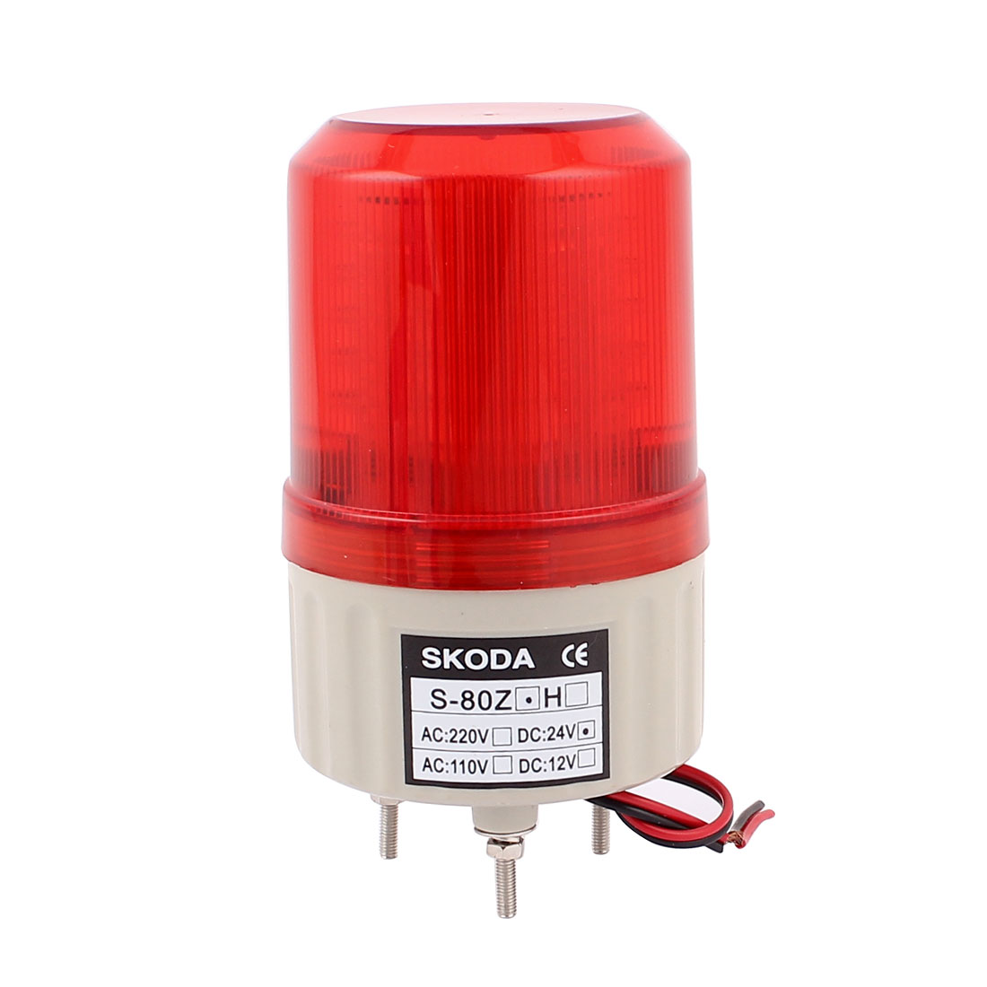 DC 24V Industrial Tower Blinking Signal Red Lamp Alarm Light Buzzer