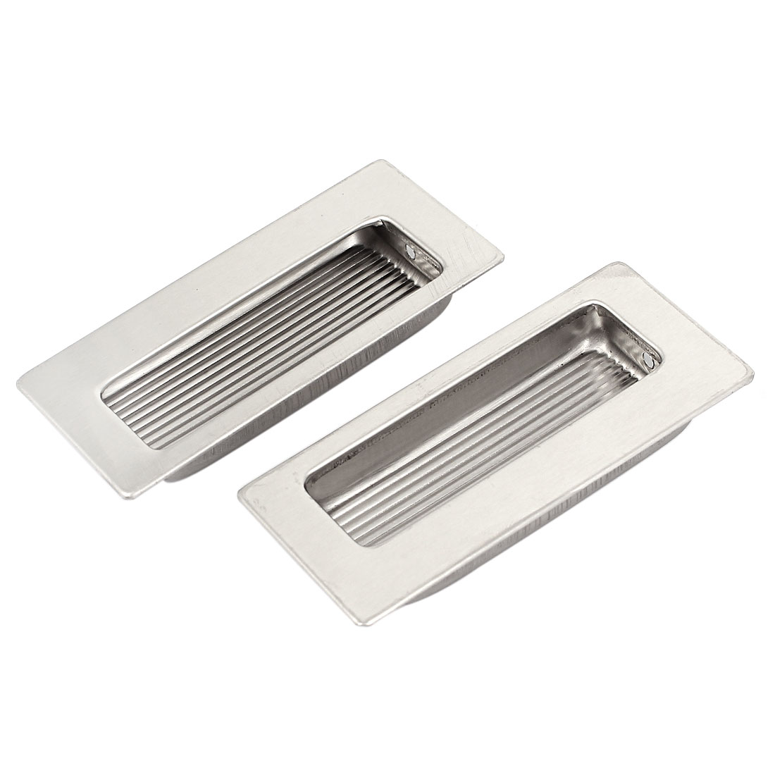 39mmx85mm Stainless Steel Recessed Flush Pull Finger Insert Door Handle 2PCS