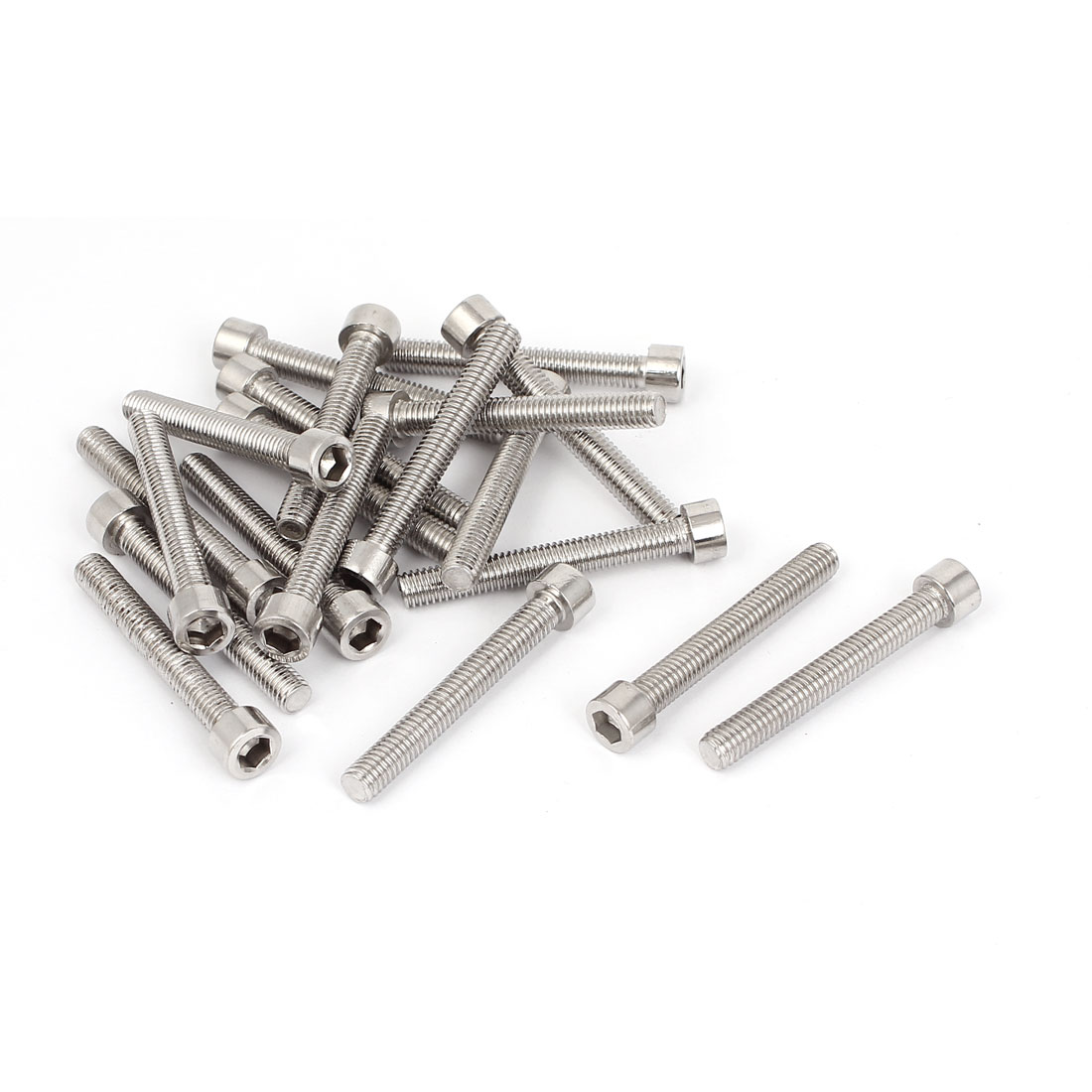 20pcs 50mm Long M6x45mm Stainless Steel Socket Cap Screws Hex Head Bolts DIN912