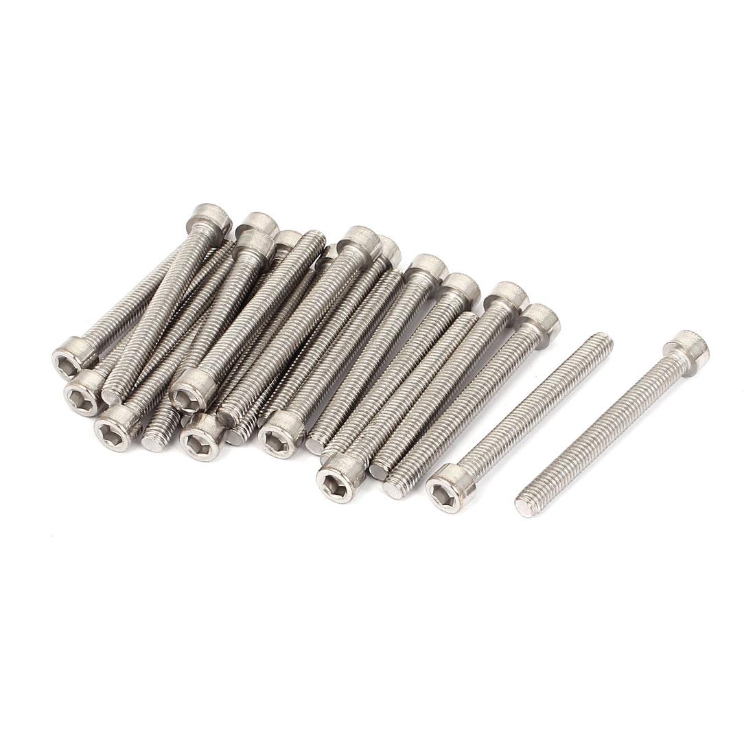 20pcs 6mmx55mm Stainless Steel Hex Socket Head Cap Bolt Machine Screws 60mm Long