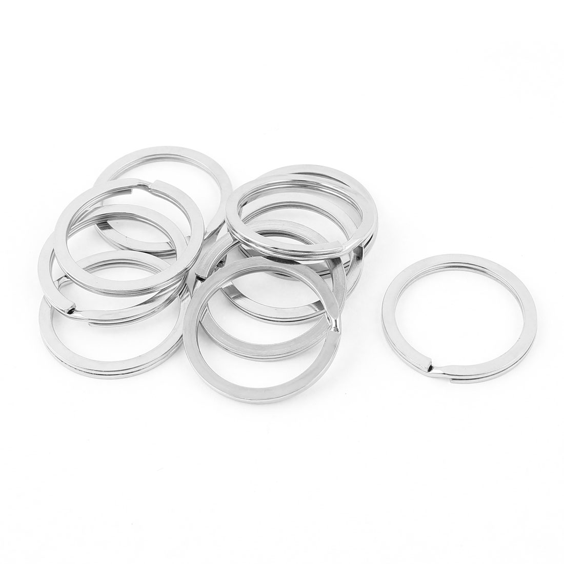 "10 PCS Sliver Tone 1.02"" Dia Metal Rings Replacement Split Loop Keyring Keys Holder"
