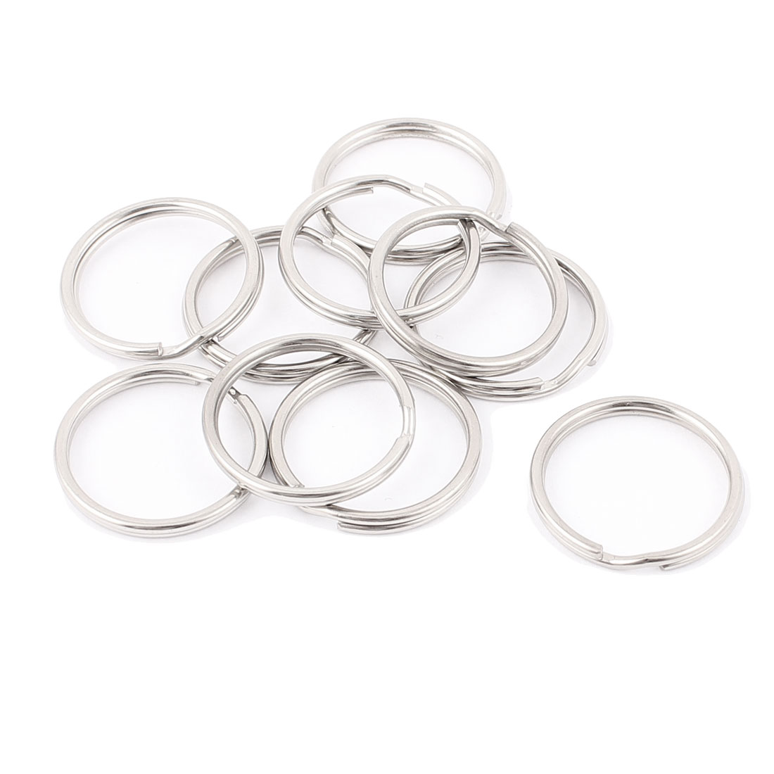 "10 PCS Sliver Tone 1"" Dia Metal Rings Replacement Split Loop Keyring Keys Holder"