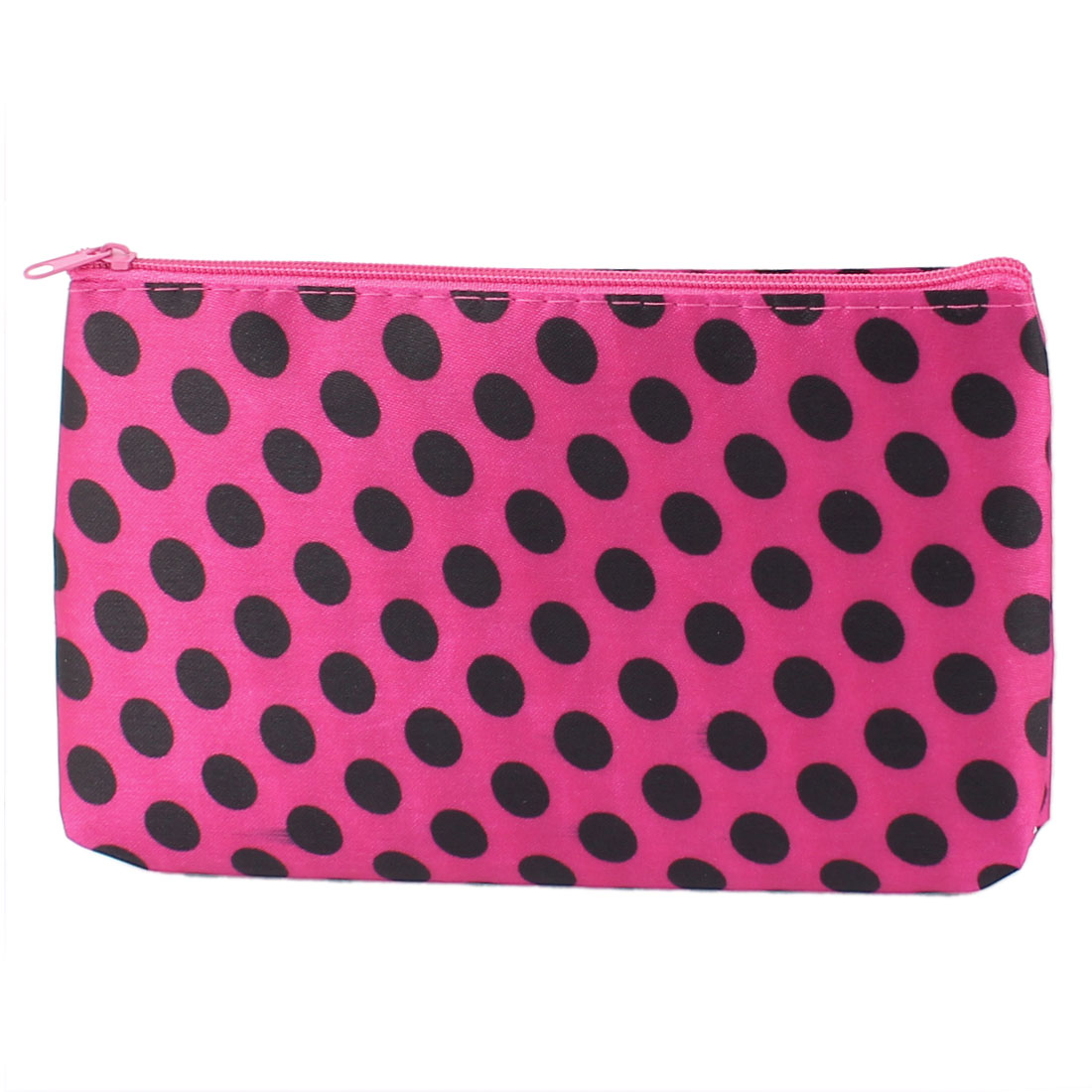 Lady Dots Pattern Makeup Cosmetic Bag Organizer Red Black