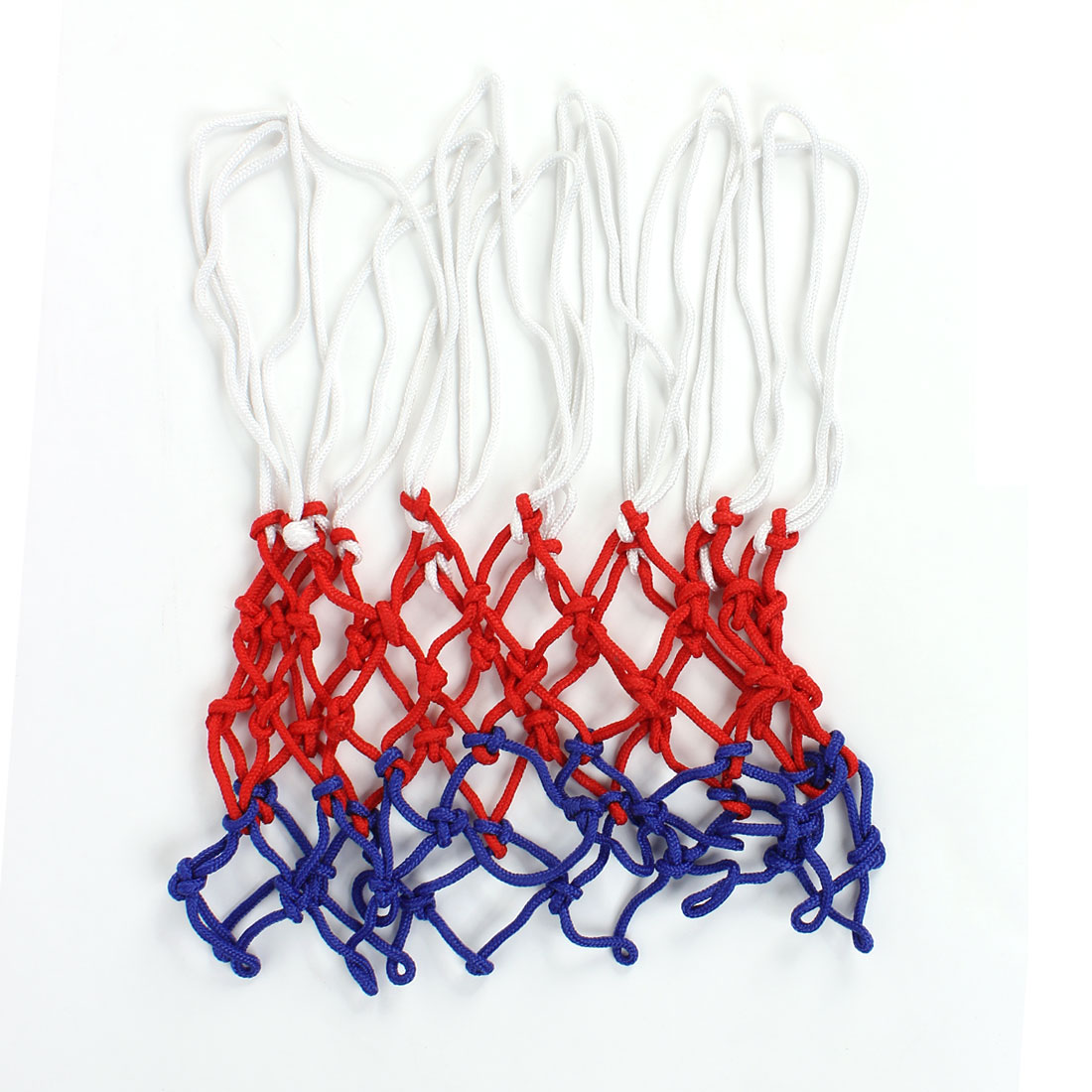 Red White Nylon Rope 12 Loops Knotted Basketball Net Netting