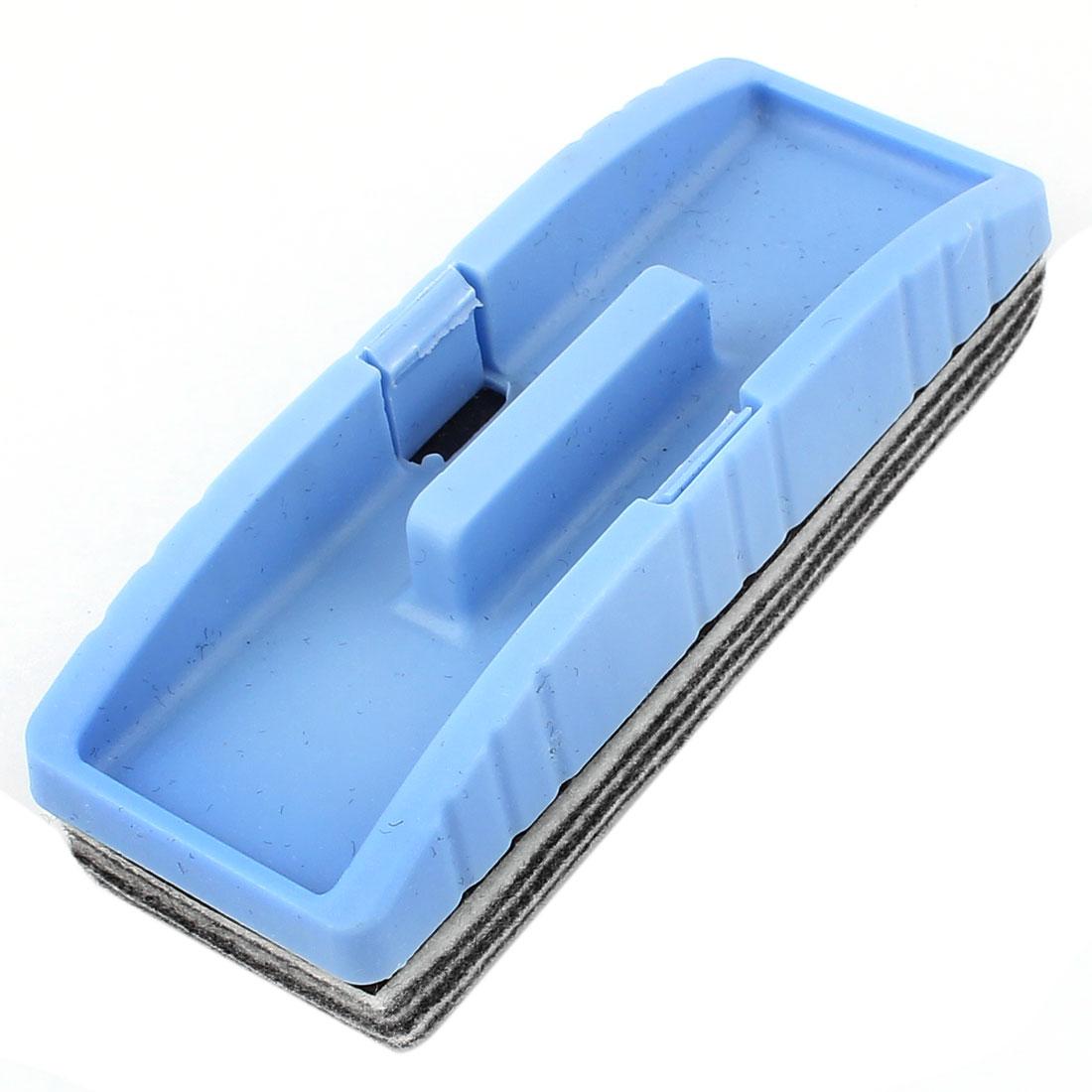 Blue Gray Rectangle Magnetic Drywipe Erase Whiteboard Eraser Marker Cleaner for Teacher