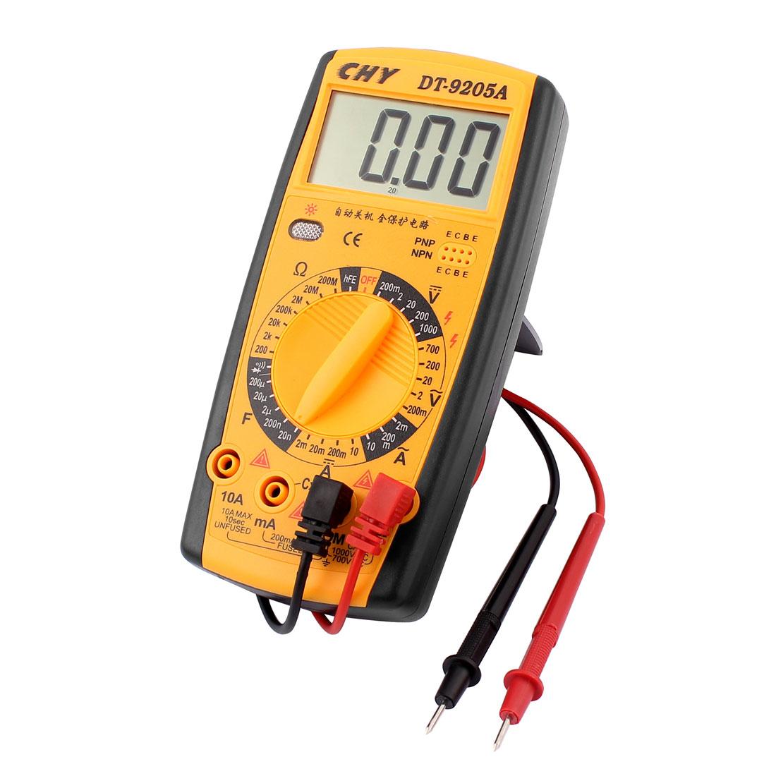 New DT9205A Digital Multimeter LCD AC/DC Ammeter Resistance Capacitance Tester