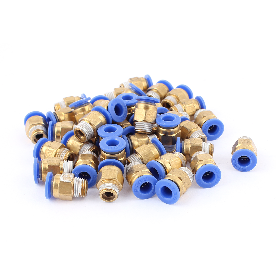 40Pcs 6mm Push in 1/8BSP Male Thread Quick Connector Pneumatic Air Fittings
