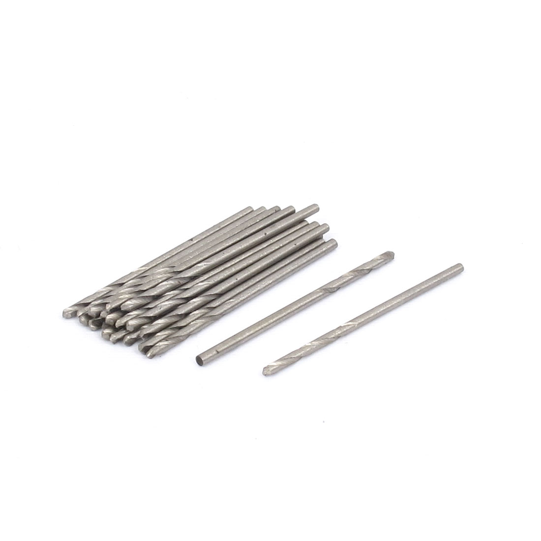 Electrical Drill HSS Straight Shank Twist Drilling Bits 1.5mm Diameter Tip 20pcs