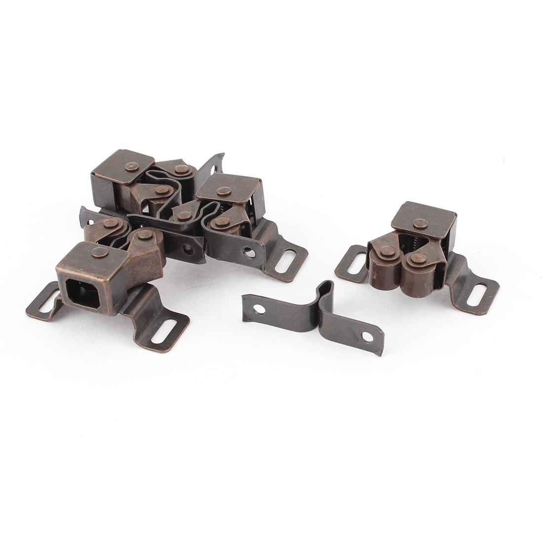 4pcs Cabinet Cupboard Double Ball Door Latch Catch Copper Tone