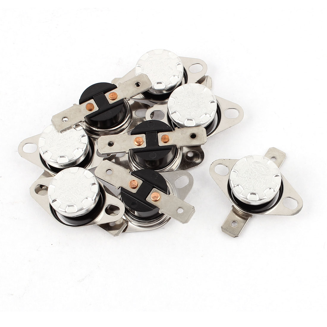 8Pcs KSD301 75C NC Temperature Control Switch Thermostat Protector AC 250V 10A