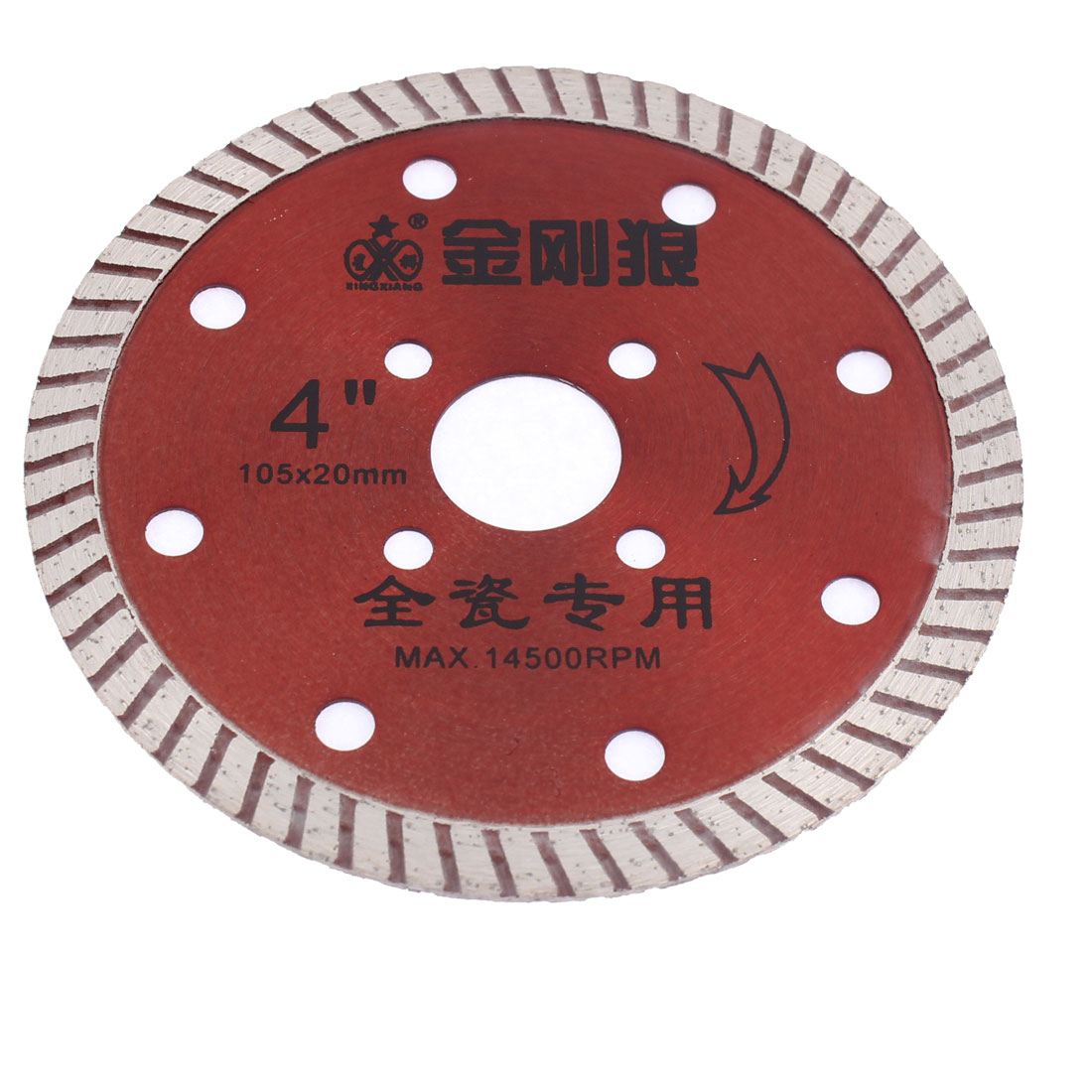105mmx20mm Diamond Grinding Polishing Wheel Saw Cutter Red for Ceramic