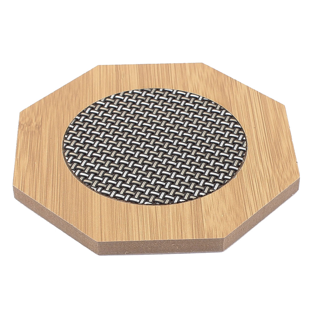 Household Wooden Octagon Shape Heat Resistant Mat Cup Pot Coaster Pad