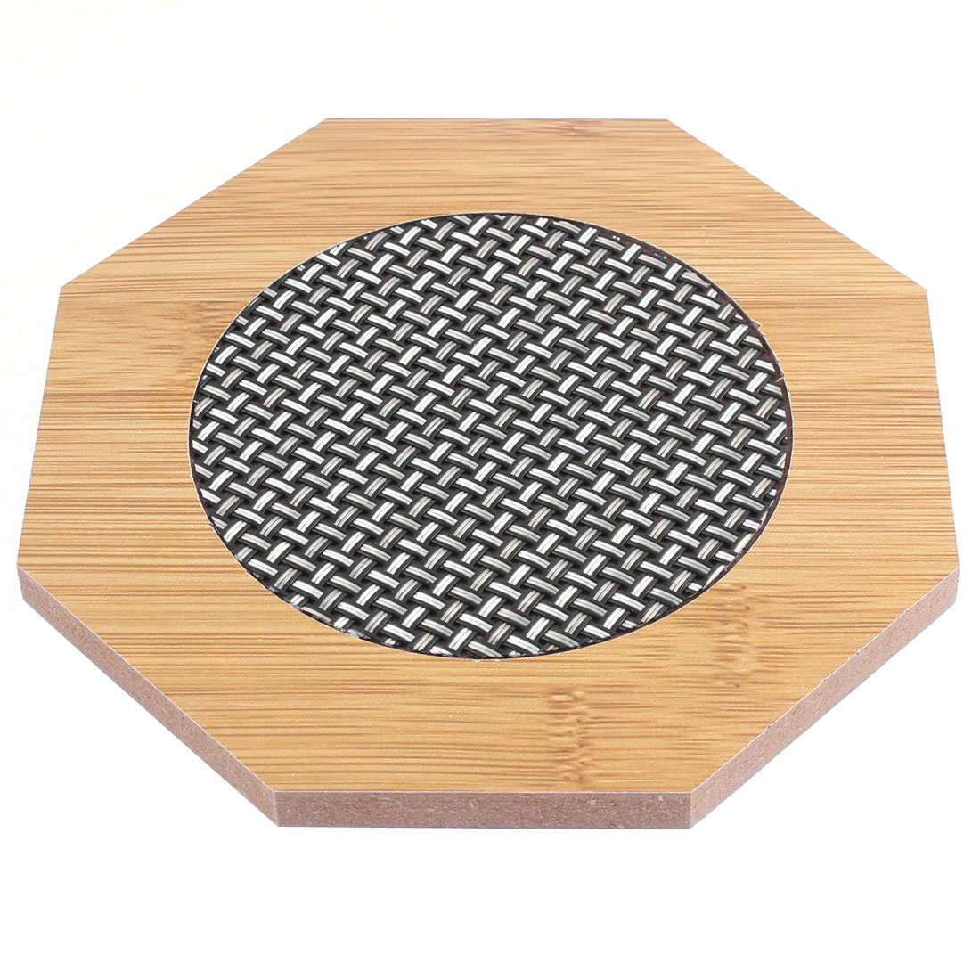 Household Wooden Octagon Shape Heat Resistant Mat Cup Pot Coaster Pad
