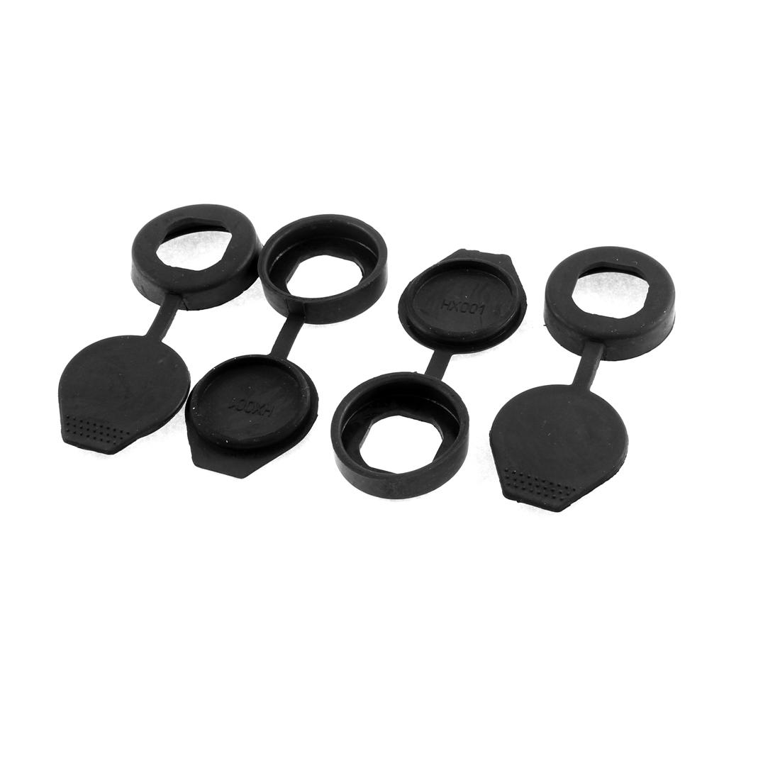 Cigarette Lighter Outlet Socket Black Rubber Cover Connector Cap Lid Replacement 4 PCS