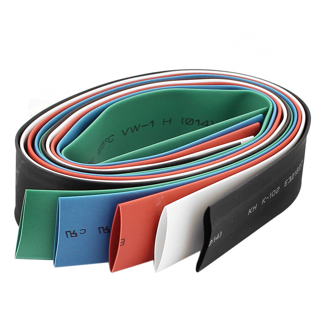 14mm Dia Polyolefin Heat Shrinkable Tube Shrink Tubing 1.6Ft 5pcs