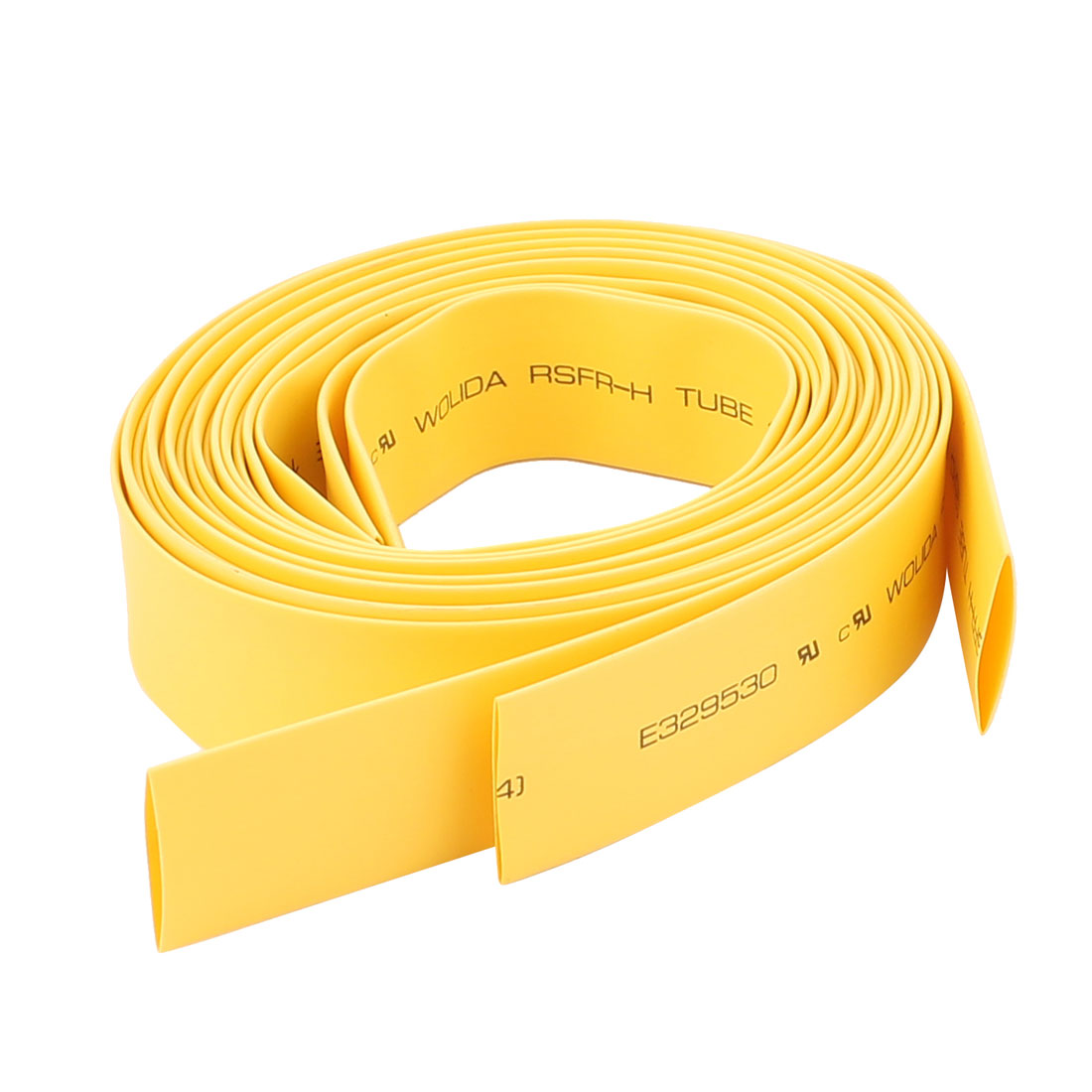 14mm Polyolefin Insulation Heat Shrink Tubing Tube 4.9Ft Yellow 3pcs