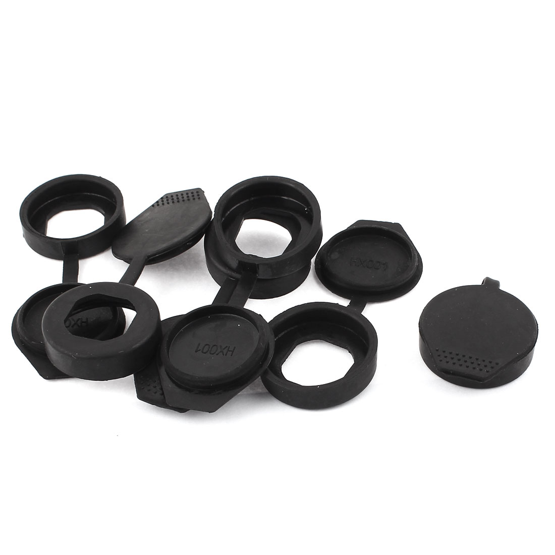 Key Panel Rubber Cam Lock Dust Cover 35mm Out Dia Black 6pcs